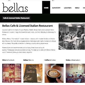 Bellas Website