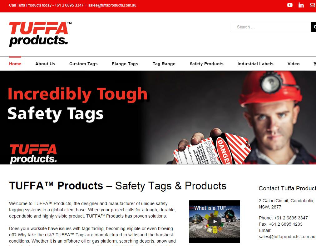 New Tuffa Products Website